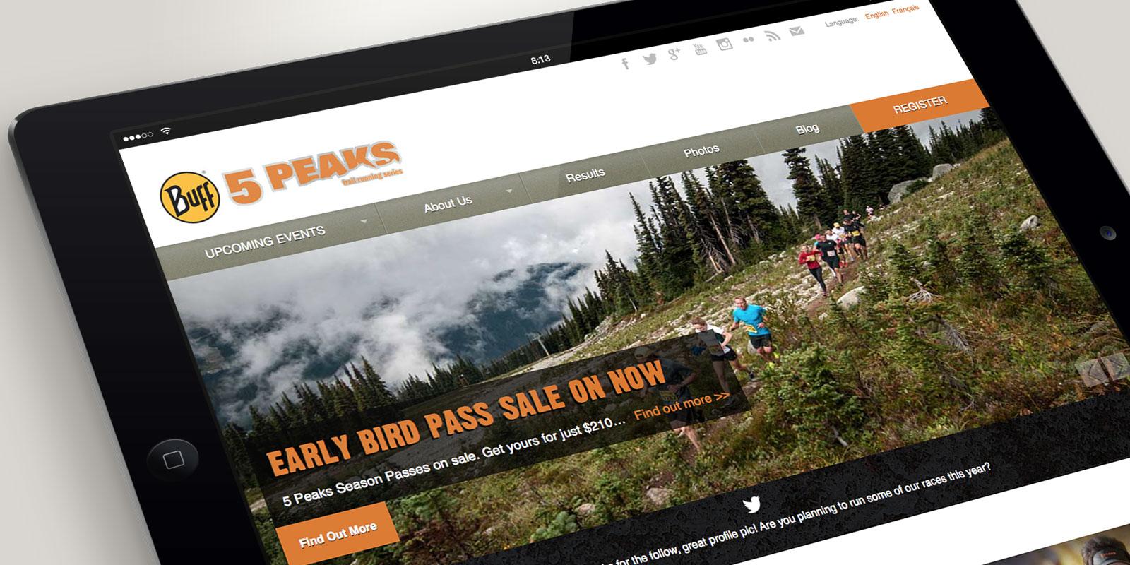 5 Peaks website