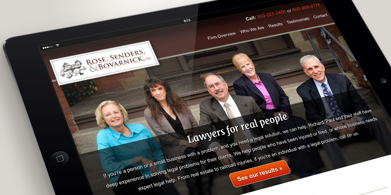 Rose, Senders, and Bovarnick Law website