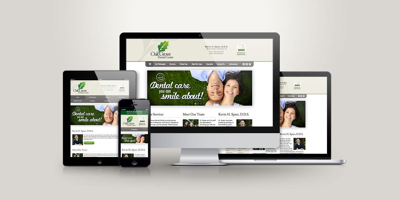 Oak Grove Dental Center responsive website
