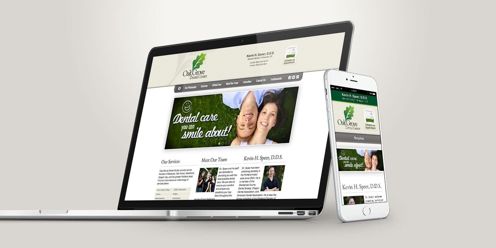 Oak Grove Dental Center website