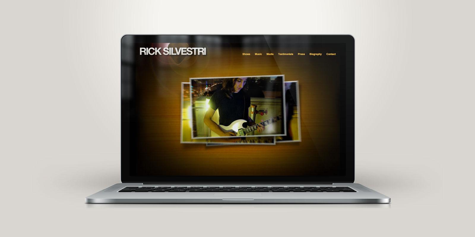 Rick Silvestri website on a laptop